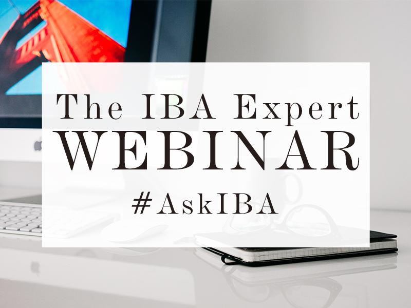 IBA Expert Webinar
