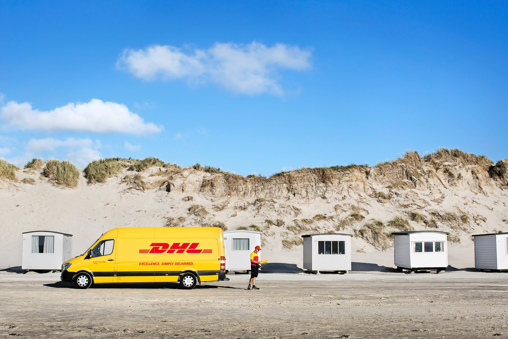 DHL van remote location